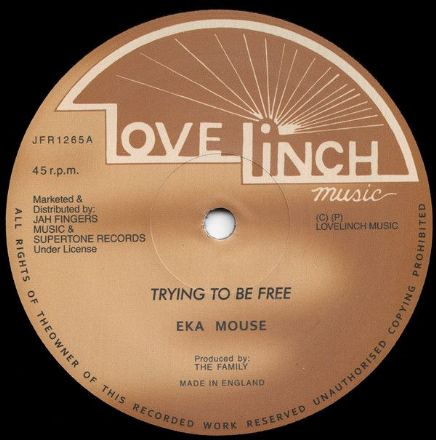 Eek A Mouse - Trying To Be Free / No Wicked (Lovelinch / Jah Fingers) 12""
